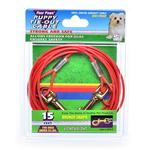 15Ft Puppy Cable Tieout 480Lb - Orange