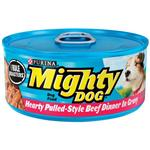 Mighty Dog Hearty Pulled-Style Beef Dinner in Gravy Canned Dog Food