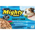 Mighty Dog Canned My Way Meaty Dinners Variety Pack for Dogs