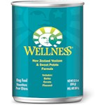 Wellness Canned Dog Food for Adult Dogs Venison & Sweet Potato Recipe