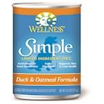 Wellness Simple Canned Duck & Oatmeal Formula