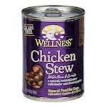 Wellness Canned Dog Food For Adult Dogs Chicken Stew with Peas & Carrots Recipe