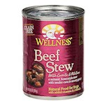 Wellness Canned Dog Food For Adult Dogs Beef Stew with Carrots & Potatos