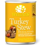 Wellness Canned Dog Food for Adult Dogs Turkey Stew with Barley & Carrots