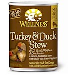 Wellness Canned Dog Food for Adult Dogs Turkey & Duck Stew with Sweet Potatoes & Cranberries