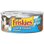 Friskies Canned Classic Pate Liver and Chicken for Cats
