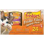 Friskies Prime Filets Turf Variety Pack for Cats