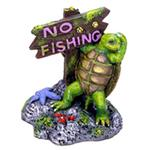 Resin Ornament - Turtle Look w/No Fishing Sign