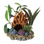 Br Fire Coral Cave With Plants
