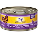 Wellness Sliced Turkey & Salmon Entree Canned Cat Food