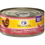 Wellness Sliced Salmon Entree Canned Cat Food