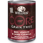 Wellness CORE Grain Free Beef, Venison & Lamb Formula Canned