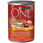Purina ONE Wholesome Beef & Barley Entrée Tender Cuts In Gravy