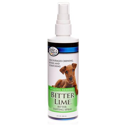 Four Paws Presents Four Paws Bitter Lime Deterrent 1oz. Bitter Lime Deterrent is a Non-Toxic Spray Designed to Discourage Pets from Biting, Chewing and Licking Furniture and Other Household Items. Bitter Lime Deterrent may also be Applied Directly to your Pet's Coat to Deter Damage Caused by Excessive Self-Grooming, as Well as to Cuts, Scratches and Other Wounds, which Prevents Licking, Biting and Infection. The Spray is Perfect for Households with New Puppies, Kittens or Other Untrained Pets, or for Pet Owners who Simply Want to Protect their Furniture and Other Belongings. It is Safe for Pets and Humans, and can be Used in a Variety of Places Around the Household, Including Garbage Containers, Closets, Cupboards, or Anywhere Else where Pets are off-Limits. When it Comes to Simultaneously Protecting your Pet and your Belongings, Look no Further than Bitter Lime Deterrent. [10025]
