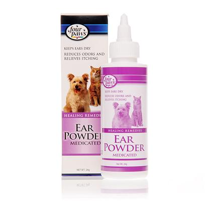 Four Paws Presents Four Paws Ear Powder 0.85oz (24g). This Easy-to-Use Powder Keeps Pet Ears Dry, Reducing the Chance of Bacterial Infections. 4 Paws Ear Powder also Protects Against Ear Odor and Relieves Ear Itching, and it can Help Make the Removal of Hairs from the Ear Canal Easier. Your PetS Ears can be Both Healthy and Well-Groomed with this Safe and Effective Powder. [10116]