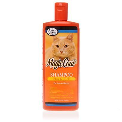 Four Paws Presents 4 Paws Flea and Tick Cat Shampoo 12oz. 4 Paws Flea and Tick Cat Shampoo Kills Lice, Fleas and Ticks on Cats and Kittens. The Formula is Powerful yet Gentle on your Cat's Skin. 4 Paws Flea and Tick Cat Shampoo Kills Fleas that may Cause Anemia and Other Health Problems in your Cat. You'll be Amazed at the Rich Lather that Comes from this Fresh-Scented Formula. The Shampoo Rinses out Cleanly, Leaving your Cat with a Shiny, Healthy Glow. 4 Paws Flea and Tick Cat Shampoo Cleans and Conditions so Well, you can Say Good-Bye to Uncomfortable Matting or Tangle Problems. On a Small Amount of this Concentrated Shampoo is Needed. Without a Doubt, this Effective and Gentle Shampoo should be a Key Part in the Treatment and Prevention of Fleas, Ticks, and Lice in your Cat. [10128]