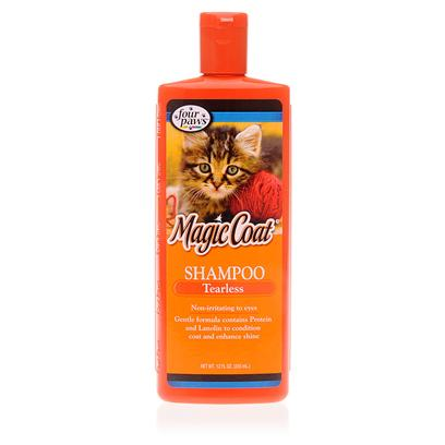 Four Paws Presents 4 Paws Shampoo Cat/Kitten Tearless 12oz. 4 Paws Shampoo Cat/Kitten Tearless Cleans your Feline Thoroughly and Rinses out in Seconds. As a Pet Owner, you Know how Important it is to Prevent Eye Irritation which can Lead to Infection. This Quality Shampoo is also Fda and Epa Approved, so that you Know your Cat is Safe. 4 Paws Shampoo Cat/Kitten Tearless has been Specially Formulated for Animals with Sensitive Skin and Allergies. Enriched with Lanolin and Protein, this Shampoo will Leave your Happy Cat Clean, Deodorized and Healthy.4 Paws Shampoo Cat/Kitten Tearless is the Cat Groomer's Catnip. Your Favorite Feline's Fur will Shine to Purr-Fection with this Elixir. Customers who Purchased this Product are Raving About its Virtues. Even Cats and Kittens with the Most Sensitive Skin React Well to this Shampoo, and it Smells Good! [10186]