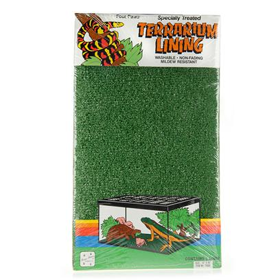 Four Paws Presents 4 Paws Terrarium Green Liner 36'' X 12''. Ez to Clean Green Lining for your Terrarium. [10198]