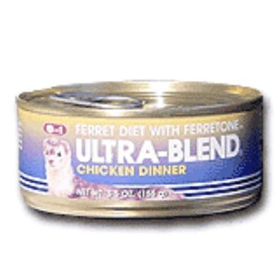 8 in 1 Presents 8 In1 Ferret Chicken Dinner 5.5oz can-1ct. Ferrets are Carnivores First and Foremost. They were Born to Eat Meat. But Like Other Domesticated Carnivores (Dogs and Cats, for Example), the Bulk of their Diets Tend to be Processed, Grain-Based Dry Food, which Often Lacks the Proteins Found in Meat Products.8 in 1 Ferret Chicken Dinner is a Moist, Meaty, High-Protein Treat that you can Mix into your Pet's Dry Food to Satisfy its Meat Cravings. It Supplies Essential Proteins, Fats and Nutrients that Help Maintain a Sleek, Glossy Fur Coat.8 in 1 Ferret Chicken Dinner is Made with Real Chicken, Brown Rice, and Ferretone (8 in 1's Exclusive Blend of Vitamins, Minerals, and Fatty Acids Designed Specifically for Coat Health).Keep your Little Friend Happy, Alert, and Healthy by Adding a Bit of 8 in 1 Ferret Chicken Dinner into its Food Each Day. [10219]