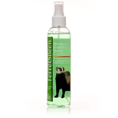 8 in 1 Presents 8 In1 Ferretsheen Deodorant Spray 8oz. The Scientific Formula is Specifically Designed to Neutralize Ferret Odors no Matter what your Ferret has been Getting Into. The Cleansing Agents in 8 in 1 Ferretsheen Deodorant Spray are Complemented by Aloe Vera Gel to Keep your Pet's Skin Soft and Give you that Sweet, Cucumber and Melon Scent. 8 in 1 Ferretsheen Deodorant Spray Actually Functions Like a Shampoo. The Spray Bottle Makes it Extremely Easy to Apply and Massage into your Ferret's Skin and Fur, so it is Perfect for Use Between Baths. This Means 8 in 1 Ferretsheen Deodorant Spray Allows you to Put off Bathing your Ferret for an Extra Couple of Days without the Ferret Losing any Softness or Sweet Smell. Needless to Say, the Spray will Save you Time and Effort while also Saving your Ferret the Stress of Constant Baths. [10231]