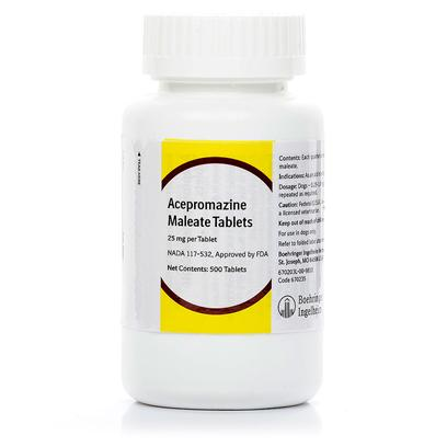 Buy Acepromazine (Generic of Promace) 25mg Per Tablet Acepromazine (Generic of Promace) is One of the Top Tranquilizer and Neuroleptic Agents for Dogs, Cats, and Horses. With Administration Directions from your Veterinarian, you can Use this Medicine for a Variety of Problems that your Pet may Have. Acepromazine (Generic of Promace) has Many Uses, and Doctors Often Prescribe it with Other Drugs. It is Most Often Used to Calm or Sedate Aggressive or Nervous Animals. The Medicine is also Administered by Veterinary Surgeons as a Preanesthetic to Depress the Pet's Central Nervous System and to Drop the Animal's Blood Pressure. Acepromazine's Anitarrhythmic Properties also Work to Stabilize the Pet's Heart Rate. It is Even Used as an Antihistamine, Reducing Itching, Scratching, and Other Allergy-Related Symptoms. [10281]
