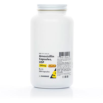 Buy Amoxicillin Capsules 250mg Per Capsule Amoxicillin is a Broad-Spectrum Penicillin Antibiotic Used to Treat Various Infections Caused by Susceptible Strains of Bacteria in Dogs and Cats. It is a Semisynthetic Antibiotic with a Broad Spectrum of Activity. It Provides Bactericidal Activity Against a Wide Range of Common Gram-Positive and Gram-Negative Pathogens. Chemically, it is D(-)--Amino-P-Hydroxybenzyl Penicillin Trihydrate. [10302]