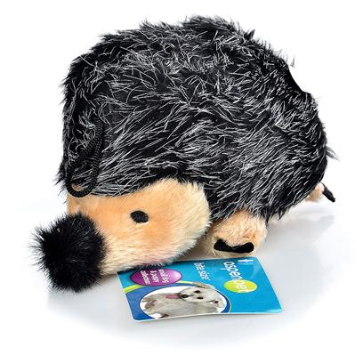 Petmate Presents Booda Plush Hedgehog 8'. This Well Crafted Plush Hedgehog will Satisfy Every Puppy or Dog Craving when it Comes to a Chew Toy. The Soft Plush Along with the Durability of this Hedgehog will Ensure that your Pet will not just Chew through this Like Another Toy. The Booda Plush Hedgehog is Made of a Durable Synthetic Fabric and also has a Squeaker Inside the Toy that will Motivate your Pet to Want to Get Up to Play. Dogs Love Hearing the Squeaky Noise and Gears them Up for Playtime. Give your Companion a Toy that will Make them Burn off that Extra Energy and Stay Healthy while Having Fun. When the Booda Plush Hedgehog Gets Dirty, no Need to Worry. Cleaning your Pet's New Toy is as Simple as Putting it in the Washing Machine. [10426]