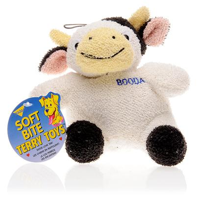 Petmate Presents Booda Terry Cloth Cow 7.5' (Large). Get your Pet a Companion to Carry Around and Play with–Get Him Booda Terry Cloth Cow, a Soft and Cuddly Toy that is Made of Terry Cloth and has no Plastic Pieces that your Pet Pooch can Break off and Swallow. It'S Fun, it'S Entertaining and it'S Safe. [10451]