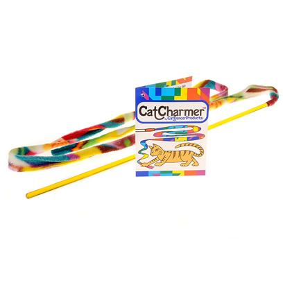 Cat Dancer Presents Cat Dancer Charmer. Is a Safe and Interactive Toy for all Kittens and Cats. It has a Flexible Wand with Long Fabric Ribbon, which Gives Hours of Excellent Aerobic Activity for your Pet. The [10477]