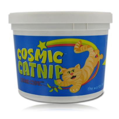 Cosmic Presents Cosmic Catnip 0.5oz. Cats Love Catnip. Years of Research and Processing has Resulted in a Fresher, More Potent, and Aromatic CatnipCosmic Catnip. The Product is Made Long Lasting by Separating the Stems from the Leaves and the Flowers, and Packing it in Re-Closable Airtight Plastic Bags or Cups. 100% Natural Herb is North American Grown. [10598]