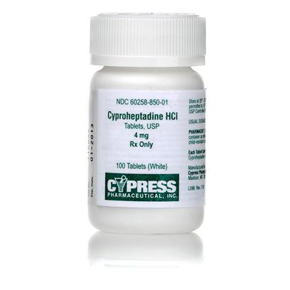 Buy Cyproheptadine 4mg Per Tablet Cyproheptadine is an Antihistamine Used in the Treatment of Allergies, Allergic Reactions and Feline Asthma. [10620]