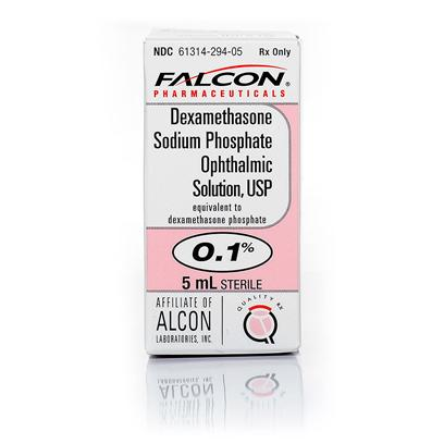 Falcon Presents Dexamethasone Ophthalmic Solution 5ml. Dexamethasone Ophthalmic Solution is a Prescription Medication Used by Veterinarians for Treating Inflammatory Conditions of the Eye in Dogs and Cats. This Corticosteroid also Aids in the Treatment of Inflammation, Burning and Redness of the Ear. Dexamethasone Ophthalmic Solution is Often Given in Combination with an Antibiotic, Like Tobramycin, to Treat Inflammatory Eye Conditions in your Pet, or Alone for Controlling Excessive Fluid in the Brain. Your Vet will Set the Dosage Depending Upon the Condition and its Severity, but it is Normally Given 4-6 Times a Day by Dropping into the Eye or Ear. If you Take your Pet to the Vet and he Prescribes Dexamethasone Ophthalmic Solution, you can be Confident that this Topical Medication will do its Job. Be Careful not to Touch the Affected Area with the Dropper, the Bottle, or your Hands to Avoid Cross Contamination. [10644]