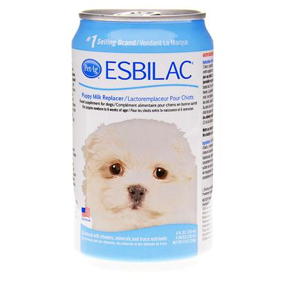 Esbilac Presents Esbilac Puppy Milk Replacer Liquid 8oz Can. Puppies Need their Mama's Milk, but Sometimes it's not Enough. Sometimes it's not Available at All. Esbilac Puppy Milk Replacer is the World's Number 1 Milk Replacer for Puppies and an Invaluable Supplement. The Life-Saving Formula Closely Matches Mom's Milk in Protein and Energy and is Fortified with Vitamins and Minerals. The Ready-to-Use Liquid in a Pop-Top can Simulates Mother's Milk for Puppies, Rabbits, Ferrets, Squirrels, Chipmunks, Beavers, Chinchillas, Guinea Pigs, and Opossums. [10690]