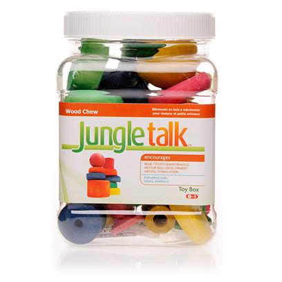 Jungle Talk Presents Jungletalk Toybox Treat 2lbs. Jungletalk Toybox Treats and Homemade Bird Toys Made with Premium Hardwoods, Fda Approved Coloring and Flavoring. Comes in a Sturdy Re-Useable Canister. [11113]