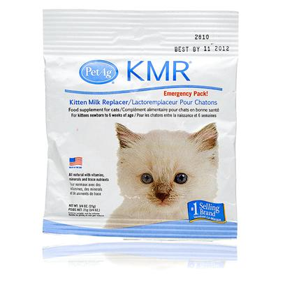 Petag Presents Kmr Emergency Pack 3/4oz. A Kitten does Best on its Mother's Milk. Sometimes, Mom Isn't Around or the Kitten has a Hard Time Feeding. Kmr Emergency Packs Along with the Kmr Emergency Feeding Kit Provides Essential Vitamins, Minerals, and Nutrients to your Growing Feline. The Creamy Taste and Texture Makes it Easy to Get your Newest Addition Eating Right Every Day. [11123]