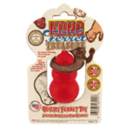 Kong Company Presents Kong Ferret Treasure. This Natural, Non-Toxic Rubber Toy Comes with Tips on Training, Socialization, Games and Exercise for Lots of Ferret Fun. [11125]