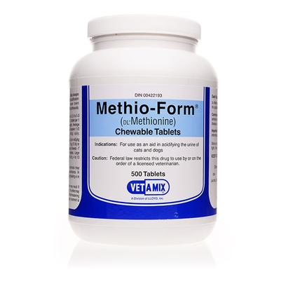 Buy Methio-Form 500mg Per Chewable Methio-Form is an Fda-Approved Prescription Medication Used to Treat and Prevent Certain Types of Urinary Stones in Both Dogs and Cats. This Easy-to-Administer Remedy can Help Prevent Bladder Stones and Urinary Tract Infections. [11176]