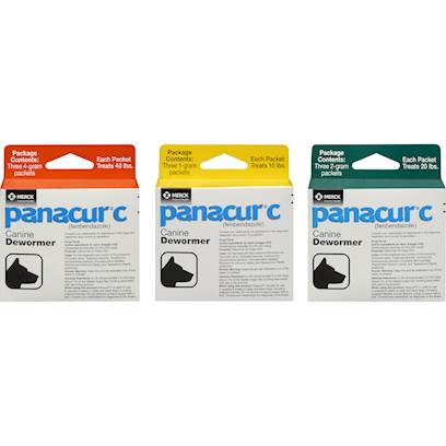 Panacur Box of three - 1 Gram packages