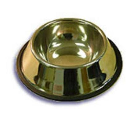 Petcetera Presents Stainless Steel Non-Tip Dish 16oz. Stainless Steel no-Tip Bowls Feature a Heavy-Duty Rubber Rim at the Bas to Prevent your Pet from Tipping it over and Spilling it Contents. The Bowl Itself is Constructed from High Quality Satinless Steel, Making it Durable, Attractive, and Easy to Clean. [11791]