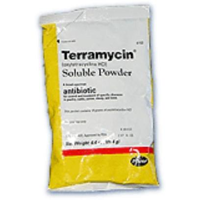 Pfizer Presents Terramycin Powder 9.56oz. For the Control and Treatment of the Following Diseases Caused by Organisms Susceptible to Oxytetracycline [17282]