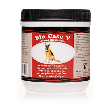 Thomas Labs Presents Bio Case V Homeopathic 12oz. Your Dog Loves to Eat. Your Cat Snarfs Down her Food. Make Sure they Get the Most out of their Daily Food Intake with Bio Case V, an over-the-Counter Enzyme Supplement Used to Aid in the Digestion of Proteins, Carbohydrate, and Fats. Bio Case V is Often Used in Conditions where Digestion is Inadequate Due to Exocrine Pancreatic Insufficiency. It has a High Concentration of Lipase, Protease, and Amylase and is Cost Effective. Plus, you don't Need a Prescription. [11929]