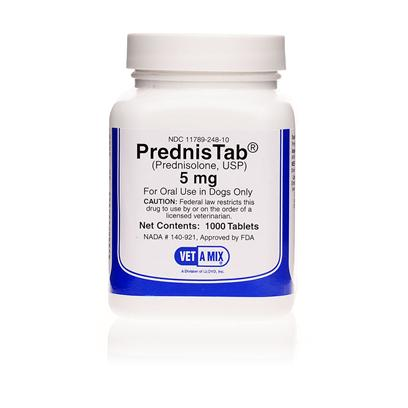 Buy Prednisolone 5mg Per Tablet Prednisolone is a Prescription Medication Used to Treat Allergy and Inflammatory Conditions as Well as a Range of Auto-Immune Diseases and Disorders in Pets. It is Known to be Effective in the Treatment of Diseases Such as Lupus or Pemphigus, Asthma and Inhalant Allergies (Atopy), Certain Types of Colitis, Certain Kidney Diseases, Cancers, Autoimmune Hemolytic Anemias, Brain Swelling, and Addison's Disease. [12108]