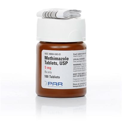 King Pharma Presents Methimazole 5mg Per Tablet. Methimazole is an Anti-Thyroid Tablet Administered for the Treatment of Hyperthyroidism in Cats. Hyperthyroidism, Often Known as Graves Disease, is an Autoimmune Disease that Causes Hyperactivity Within the Thyroid Gland Leading to the Overproduction of the Thyroid Hormones Thyroxine (T4) and Triiodothyronine (T3). Hyperthyroidism is a Condition that may Lead to Weight Loss, Abnormal Appetite, and Heart Issues. In this Instance, the Medication Works by Restoring the Thyroid Hormone Levels Back to Normal by Interfering with Iodine, which Plays a Major Role in Thyroid Performance. Overall, Methimazole has been Proven Incredibly Effective Against Graves Disease in Cat's. [12055]