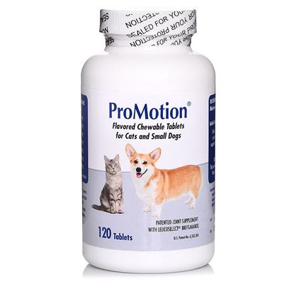 Virbac Presents Promotion Cats/Small Dogs-120 Tablets. Joints have to Handle a Lot of Wear and Tear, and they Need Supplements to Stay Healthy. Your Dogs and Cats Won't Tell you their Joints Hurt, but You'll see it in the Way they Walk and Jump. Promotion is a Patented Supplement with Antioxidants and Joint Nutrients to Maintain your Pet's Joint Health as they Get Older. And you don't have to Worry About Getting them to Eat. The Tasty Bacon Flavor Makes it Seem Like a Treat. [16105]