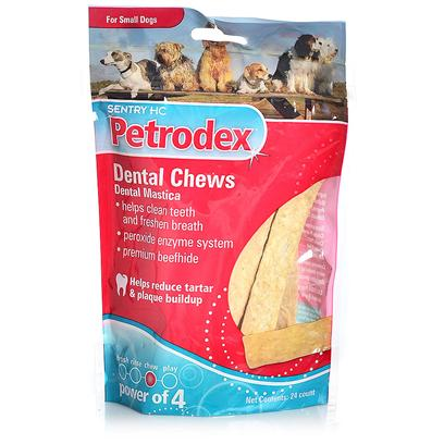 St Jon Laboratories Presents St Jon Petrodex Dental Chews Medium Dogs-5oz Bag. Everything About St Jon Petrodex Dental Chews Works to Clean your DogS Teeth and Gums, and Get Rid of Plaque and Tartarfrom the Texture of the Chews, Down to the Dual Enzyme Formula,. The Special Enzymatic Formula Starts Working Immediately, as it is Activated by Contact with your DogS Saliva. The Texture of these Chews Causes your Dog to Chew More, Loosening Food Particles and Removing Tartar Buildup. By Chewing More, your Dog is also Increasing the Strength of their Teeth and Jaws. YouLl Love Knowing that youRe Taking Care of your DogS Dental Health, and theyLl Love the Beef Hide Taste. [12360]