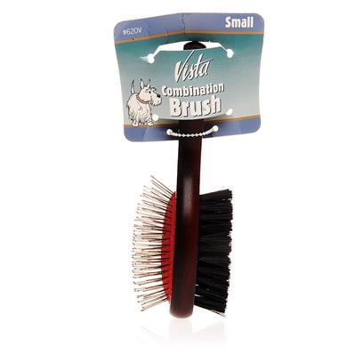 Millers Forge Presents Millers Forge Vista Combo Brush Small. Millers Forge Vista Combo Brush is an Inevitable Product for Pet Grooming. This High Quality Double Sided Brush Helps Make Brushing Easier and your Pet Look Better. The Double Sides Include a Thin Pin Side and a Brush Side. You can Use the Pin Side for Initial Grooming and the Brush Side is Perfect for Giving Finishing Touches. [12503]