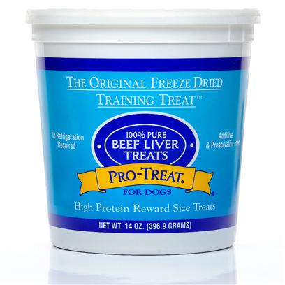 Gimborn Presents Pro-Treat 100% Pure Beef Liver Treats 2oz. Healthy Training Treats Made with just One Ingredient Looking for a no-Hassle Dog Treat that IsnT Filled with Ingredients you canT Pronounce? Hold the Preservatives, Fillers, and Additives! Pro-TreatS all-Natural Pure Beef Liver Snacks are Made from 100% Beef Liver, Inside and Out. To Ensure Freshness, the Treats are Freeze-Dried for Maximum Shelf-Life, but they Keep their Full Aroma, Flavor, and Nutritional Value. One Happy Reviewer Says my Puppy is a Picky Eater but she Really Likes this Treat! Pro-TreatS Pure Beef Liver Cubes were Originally Developed to Train Show Dogs and Encourage Discipline in the Ring. The Reward-Size Design Makes Obedience Coaching Easy, so Both you and your Dog will Love Training Time. [12560]