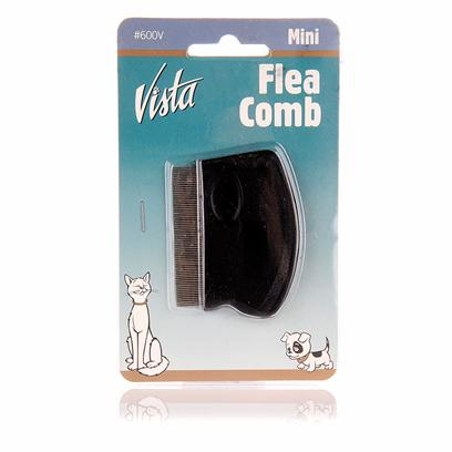 Millers Forge Presents Millers Forge Vista Mini Flea Comb. Easily Removes Irritating Fleas. Easy to Hold and Transport. [12577]