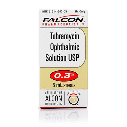Buy Tobramycin Ophthalmic Solution 0.3% Opthalmic 5ml Tobramycin Ophthalmic Solution is a Common Aminoglycoside Antibiotic Solution for Dogs and Cats, Used to Treat Common Eye Infections - Particularly Conjunctivitis - as Well as Ease Discomfort During the Healing Process. Antibiotic Drops should be Administered to your Pet as Soon as Symptoms of an Infection are Present. Tobramycin Ophthalmic Solution is Available Via Prescription only, and your Veterinarian will Dictate Dosage. This Solution is Applied Around the Eye Area, Rather than Directly into the Eye, which Might Make it Easier to Apply than some Other Common Pet Eye Infection Medications. [12591]