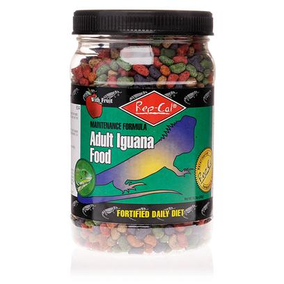 Rep-Cal Presents Rep-Cal Iguana Food 10oz Adult. This Feed is Formulated to Ensure Proper Growth and Health by Providing Complete and Balanced Nutrition. It is a Veterinarian Recommended Food Containing Natural Plant and Fruit Ingredients Iguanas Love and Provides the 100% Complete Daily Nutrition. [12603]